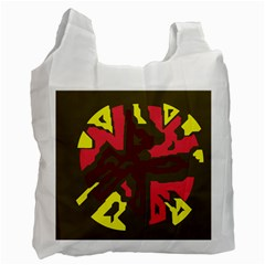 Abstract Design Recycle Bag (two Side)  by Valentinaart