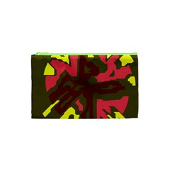 Abstract Design Cosmetic Bag (xs) by Valentinaart