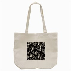 Black And White Elegant Pattern Tote Bag (cream) by Valentinaart