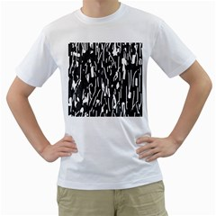 Black And White Elegant Pattern Men s T-shirt (white)  by Valentinaart