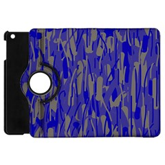 Plue Decorative Pattern  Apple Ipad Mini Flip 360 Case by Valentinaart