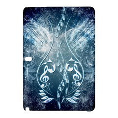 Music, Decorative Clef With Floral Elements In Blue Colors Samsung Galaxy Tab Pro 12 2 Hardshell Case by FantasyWorld7