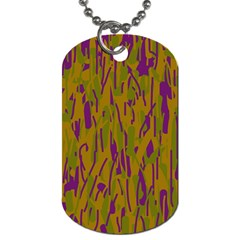 Decorative Pattern  Dog Tag (two Sides) by Valentinaart