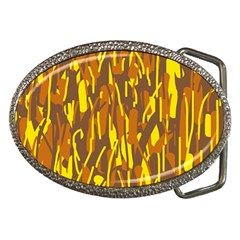 Yellow Pattern Belt Buckles by Valentinaart