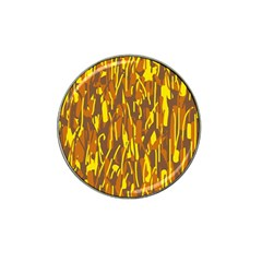 Yellow Pattern Hat Clip Ball Marker (4 Pack) by Valentinaart