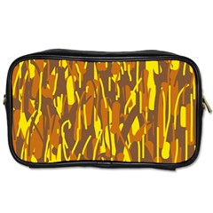 Yellow Pattern Toiletries Bags