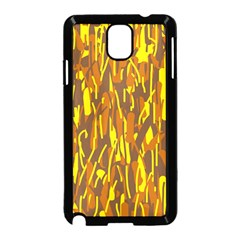 Yellow Pattern Samsung Galaxy Note 3 Neo Hardshell Case (black) by Valentinaart
