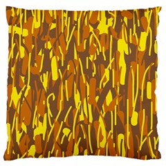 Yellow Pattern Standard Flano Cushion Case (two Sides) by Valentinaart
