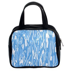 Blue Pattern Classic Handbags (2 Sides) by Valentinaart