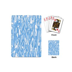 Blue Pattern Playing Cards (mini)  by Valentinaart