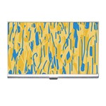 Yellow and blue pattern Business Card Holders Front