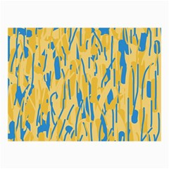 Yellow And Blue Pattern Collage Prints by Valentinaart