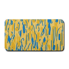 Yellow And Blue Pattern Medium Bar Mats by Valentinaart