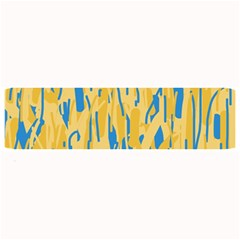 Yellow And Blue Pattern Large Bar Mats by Valentinaart