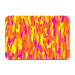 Pink And Yellow Pattern Plate Mats by Valentinaart