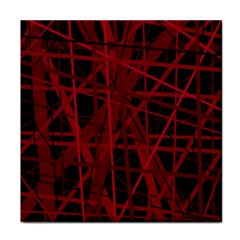 Black And Red Pattern Tile Coasters by Valentinaart