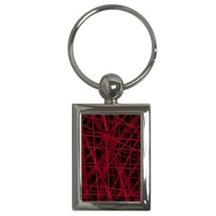 Black And Red Pattern Key Chains (rectangle)  by Valentinaart