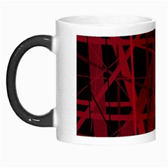 Black And Red Pattern Morph Mugs by Valentinaart