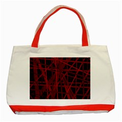 Black And Red Pattern Classic Tote Bag (red) by Valentinaart