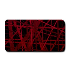 Black And Red Pattern Medium Bar Mats by Valentinaart