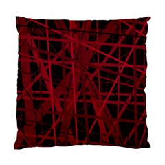Black And Red Pattern Standard Cushion Case (one Side) by Valentinaart