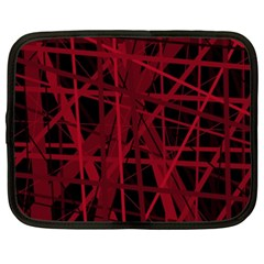 Black And Red Pattern Netbook Case (xxl)  by Valentinaart
