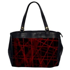 Black And Red Pattern Office Handbags