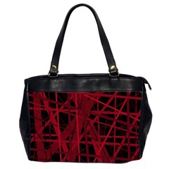 Black And Red Pattern Office Handbags (2 Sides)  by Valentinaart