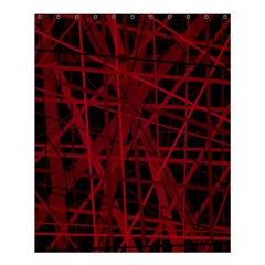 Black And Red Pattern Shower Curtain 60  X 72  (medium)  by Valentinaart
