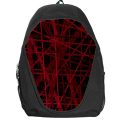 Black And Red Pattern Backpack Bag by Valentinaart