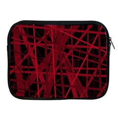 Black And Red Pattern Apple Ipad 2/3/4 Zipper Cases by Valentinaart