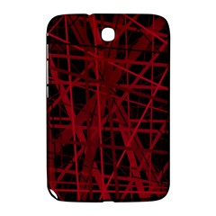 Black And Red Pattern Samsung Galaxy Note 8 0 N5100 Hardshell Case  by Valentinaart