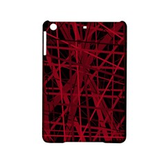 Black And Red Pattern Ipad Mini 2 Hardshell Cases by Valentinaart