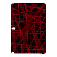 Black And Red Pattern Samsung Galaxy Tab Pro 10 1 Hardshell Case by Valentinaart