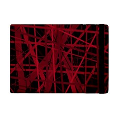 Black And Red Pattern Ipad Mini 2 Flip Cases by Valentinaart