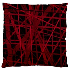 Black And Red Pattern Large Flano Cushion Case (two Sides) by Valentinaart