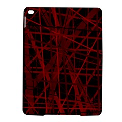 Black And Red Pattern Ipad Air 2 Hardshell Cases by Valentinaart