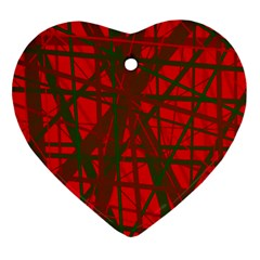 Red Pattern Ornament (heart)  by Valentinaart