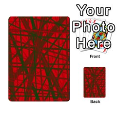 Red Pattern Multi Purpose Cards (rectangle)  by Valentinaart