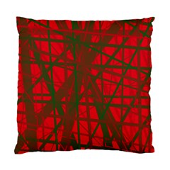Red Pattern Standard Cushion Case (one Side) by Valentinaart