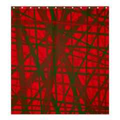 Red Pattern Shower Curtain 66  X 72  (large)  by Valentinaart