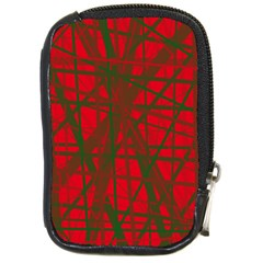 Red Pattern Compact Camera Cases by Valentinaart