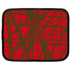Red Pattern Netbook Case (xxl)  by Valentinaart