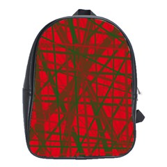 Red Pattern School Bags (xl)  by Valentinaart