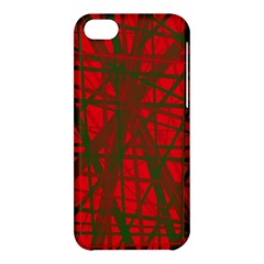 Red Pattern Apple Iphone 5c Hardshell Case by Valentinaart