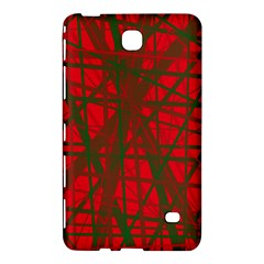 Red Pattern Samsung Galaxy Tab 4 (8 ) Hardshell Case  by Valentinaart