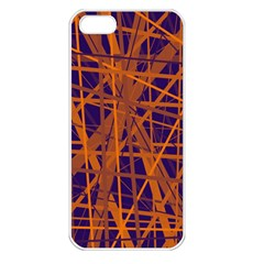 Blue And Orange Pattern Apple Iphone 5 Seamless Case (white) by Valentinaart