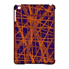 Blue And Orange Pattern Apple Ipad Mini Hardshell Case (compatible With Smart Cover) by Valentinaart