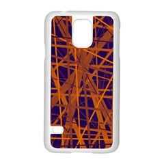Blue And Orange Pattern Samsung Galaxy S5 Case (white) by Valentinaart