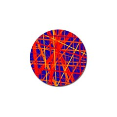 Orange And Blue Pattern Golf Ball Marker (10 Pack) by Valentinaart